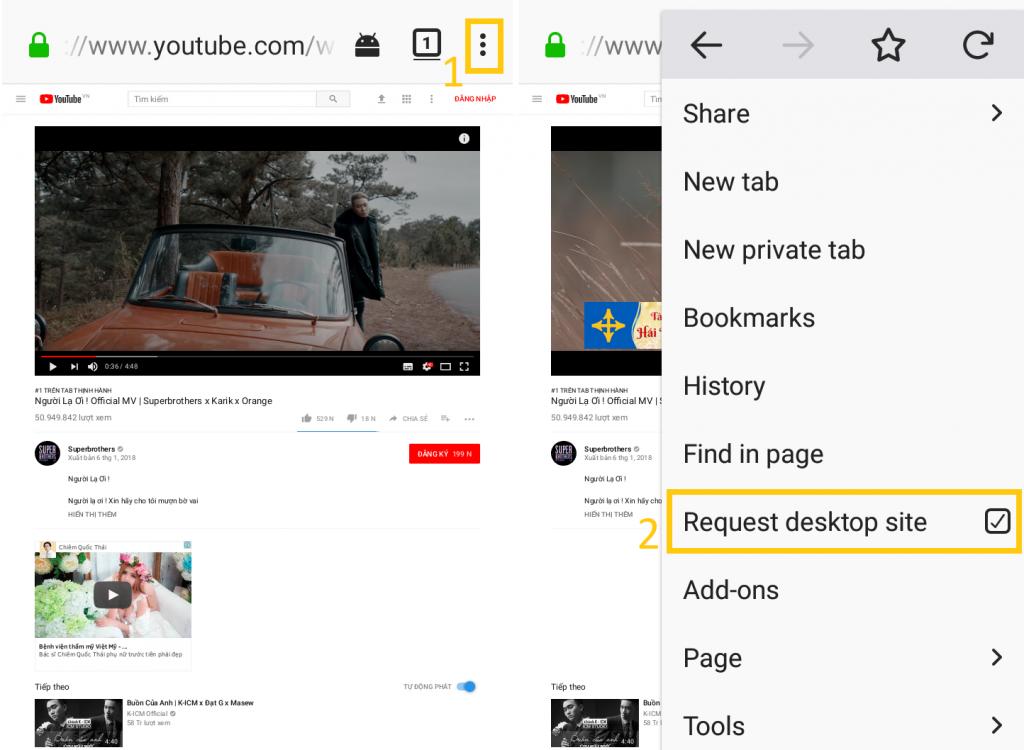 Nghe nhạc trên YouTube khi tắt màn hình trên Android