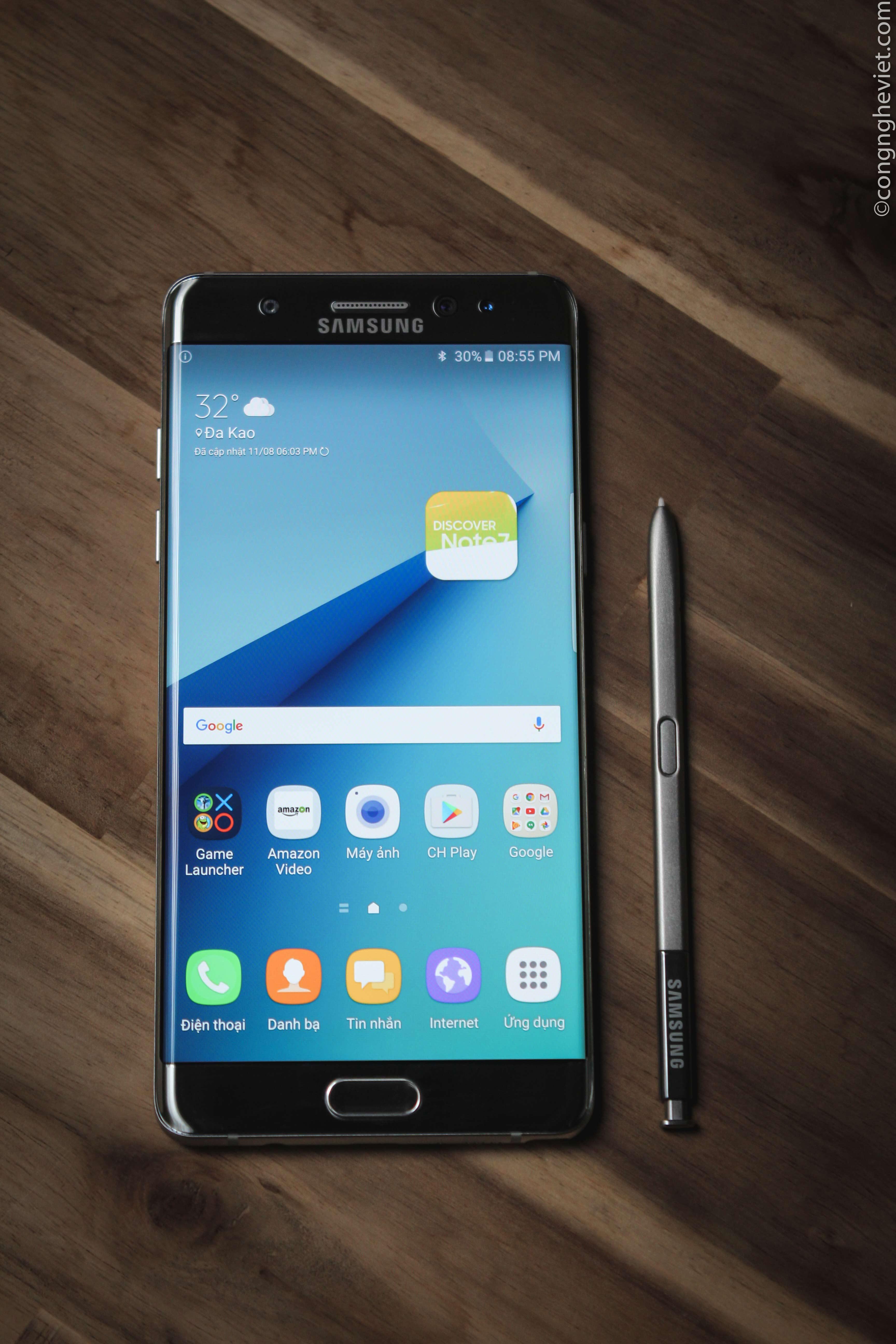 Siêu phẩm Samsung Galaxy Note 7 đang cháy hàng trên toàn cầu