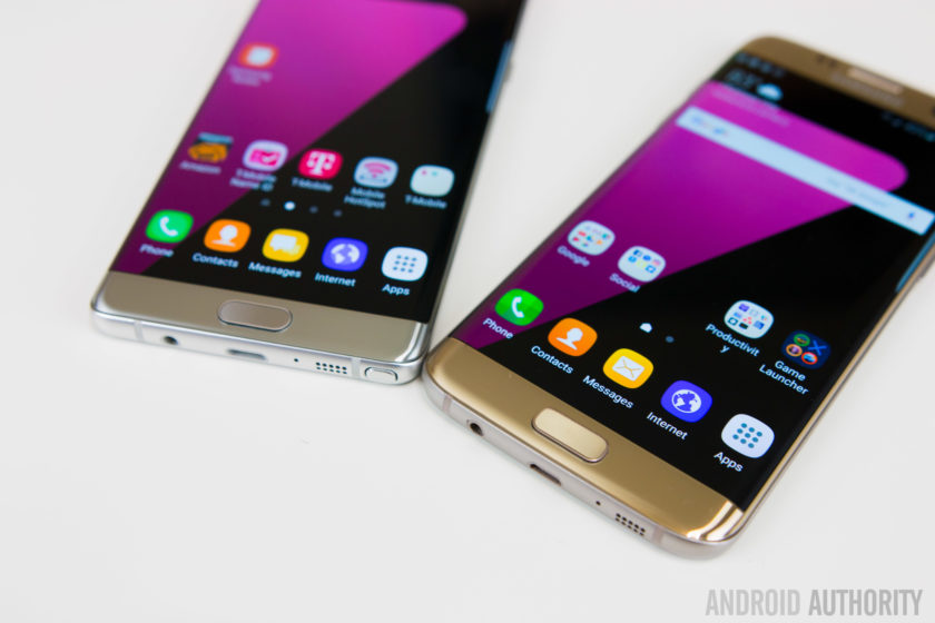 So sánh Samsung Galaxy Note 7 vs Galaxy S7 Edge
