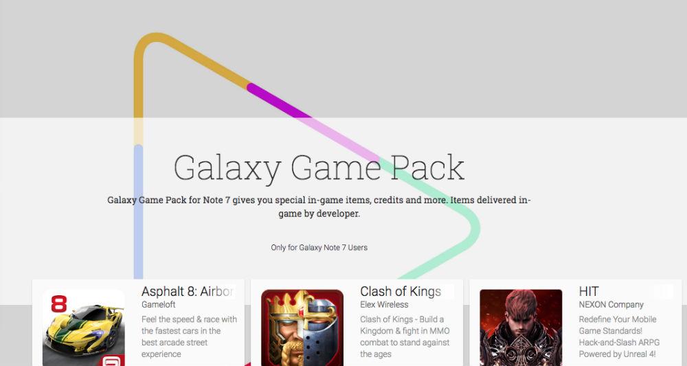 Mời tải Galaxy Game Pack trị giá $400 dành riêng Note7