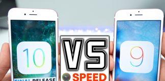 So sánh tốc độ iOS 10 với iOS 9.3.5