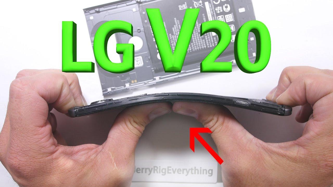LG V20 vượt qua bài thử nghiệm bẻ cong, đốt lửa và cào xước