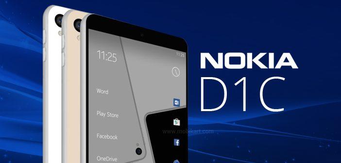 Lộ ảnh render Nokia D1C: Snapdragon 430 SoC, 3GB RAM và chạy Android 7.0