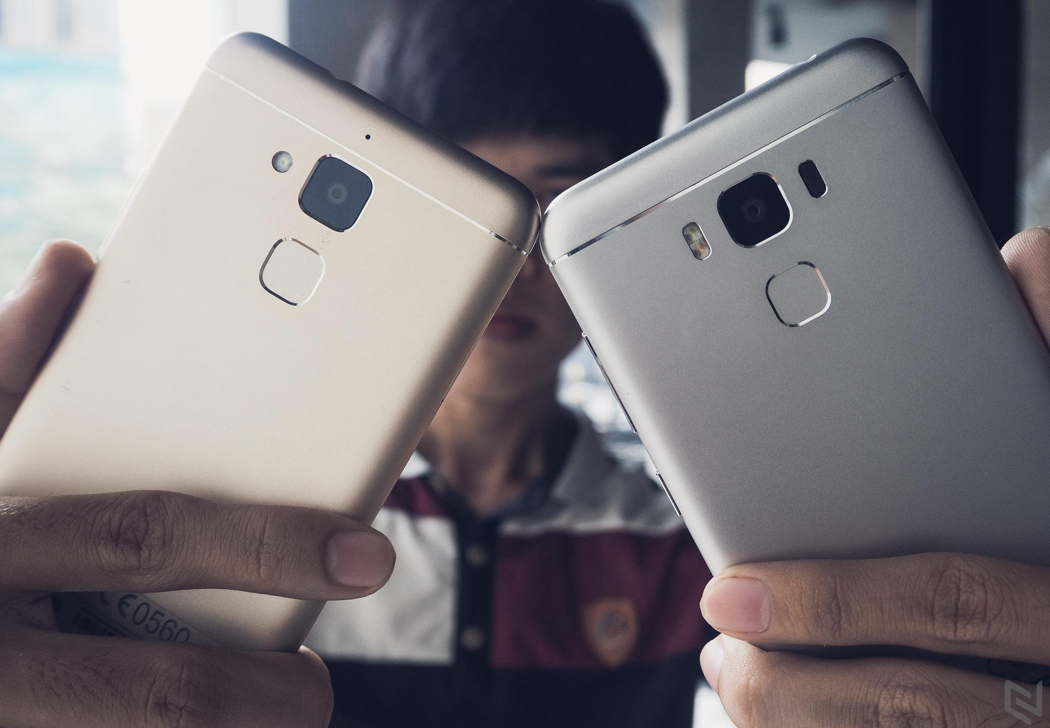 """[Hình ảnh] So sánh ZenFone 3 Max bản 5.2"""" và 5.5"""""""
