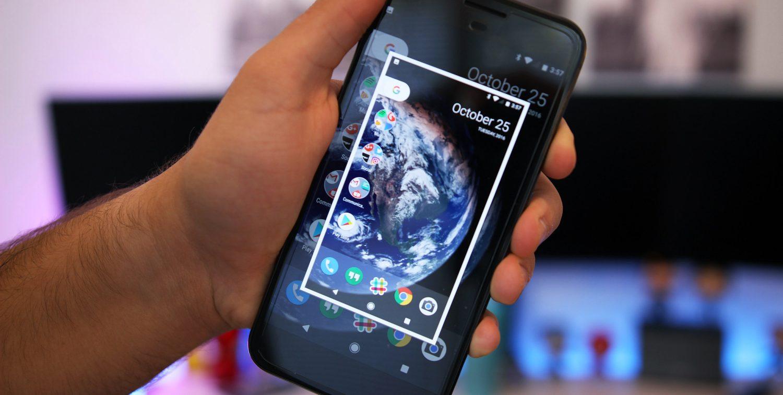 Android Nougat cho phép chụp một phần màn hình tùy chọn, nhưng tính năng này đang bị ẩn