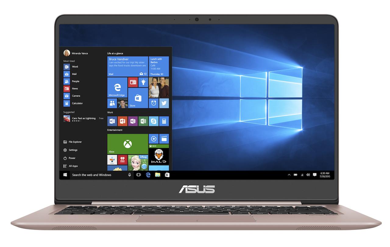 ASUS ra mắt ZenBook UX410: laptop màn hình 14″ trong thân máy 13″