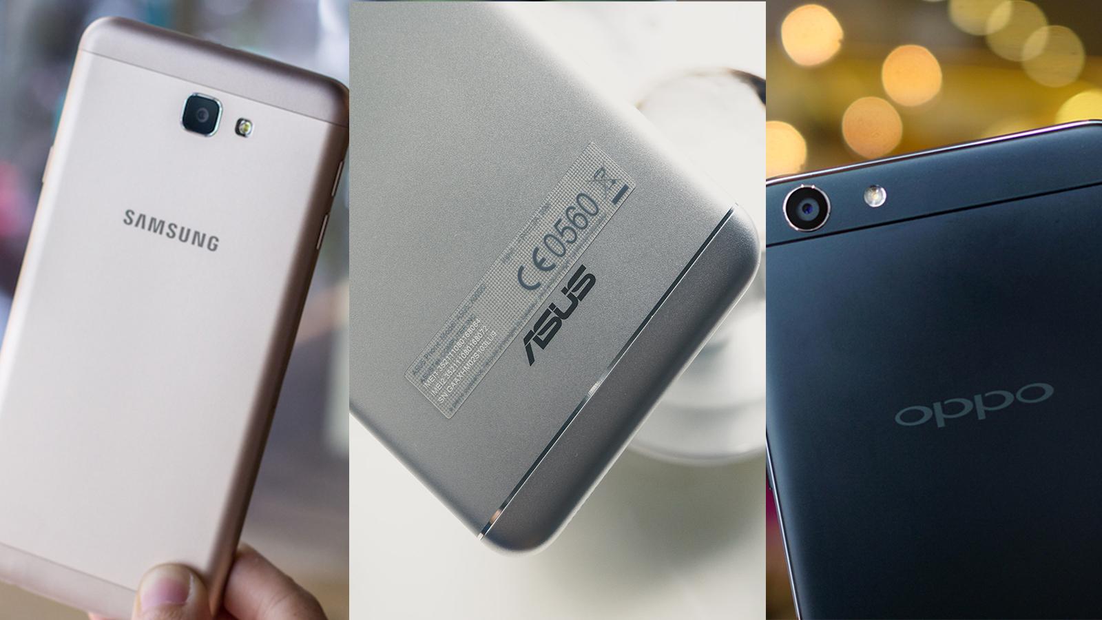 """So sánh thời lượng pin ZenFone 3 Max 5.5"""" - OPPO F1s - Samsung J7 Prime"""