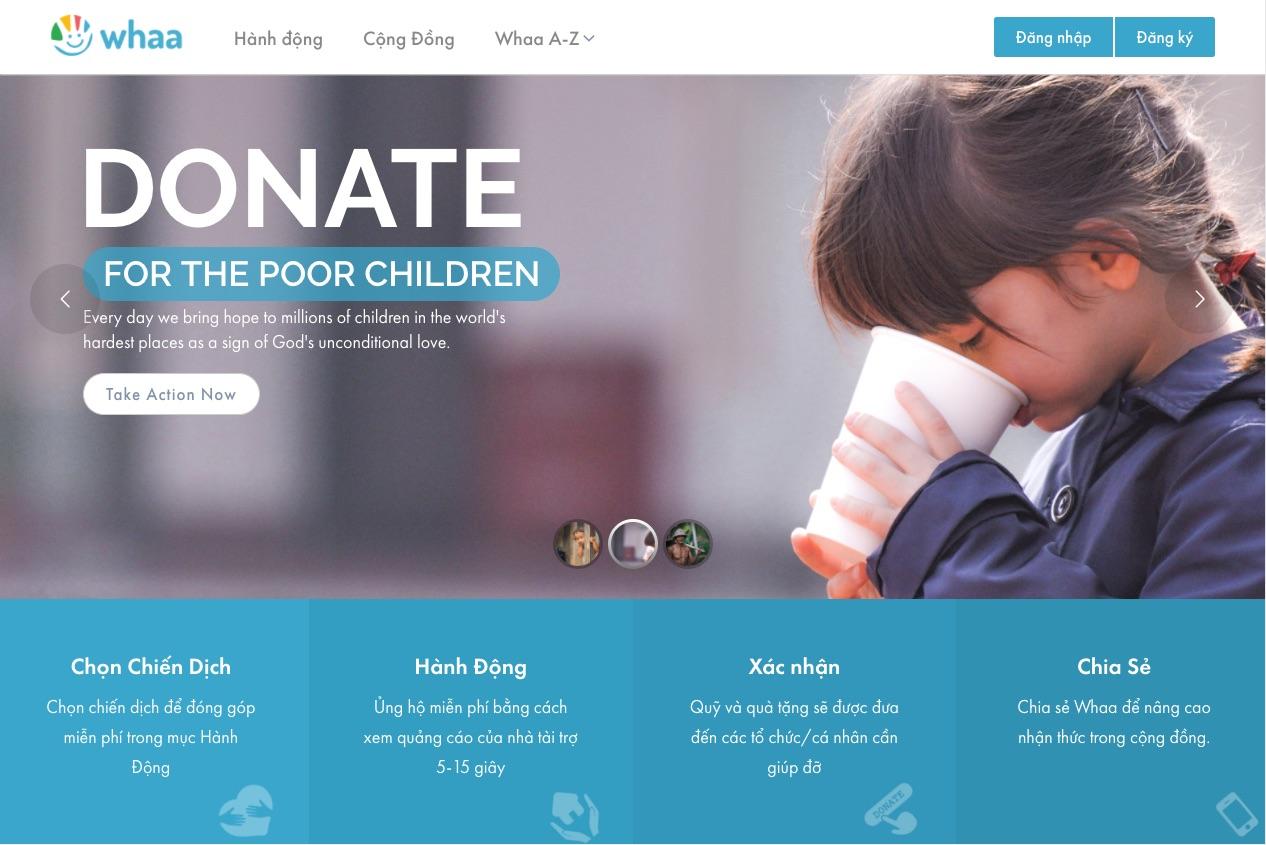 Whaa.life – Làm từ thiện thời công nghệ