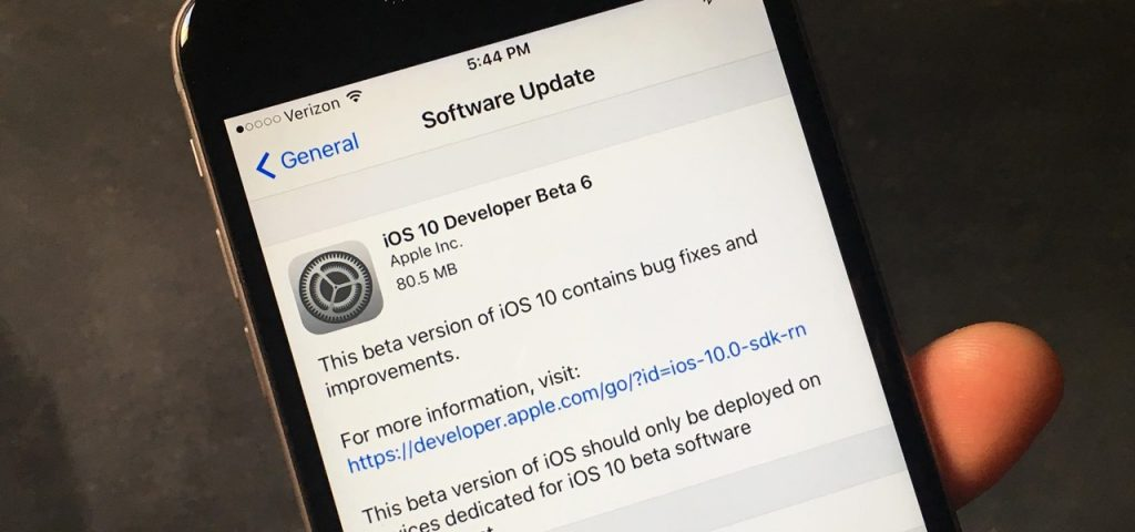ios 10_beta 6