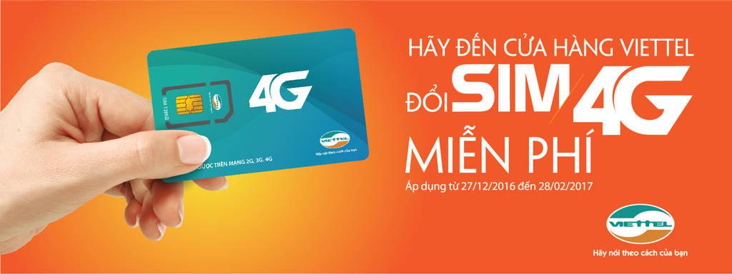 Viettel triển khai chương trình đổi sim 4G miễn phí trên toàn quốc