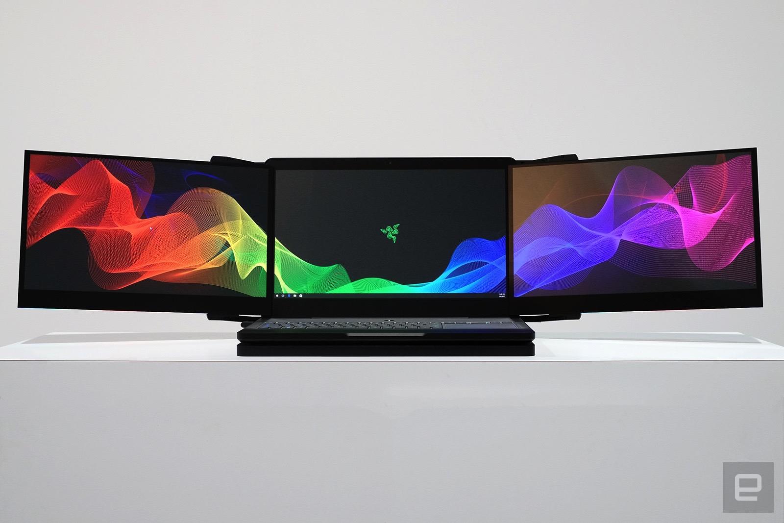 Razer đang sản xuất laptop 3 màn hình