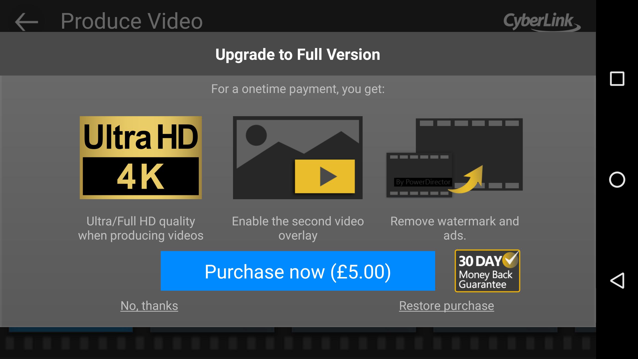Cyberlink PowerDirector trở thành ứng dụng Android đầu tiên hỗ trợ biên tập video 4K