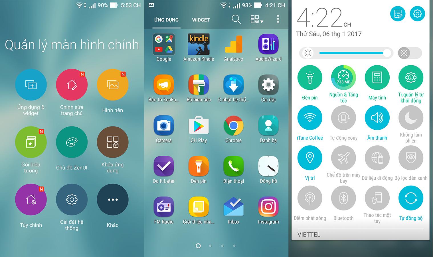 """Nói về giao diện ZenFone 3 Max 5.5"""" - OPPO F1s - Galaxy J7 Prime"""