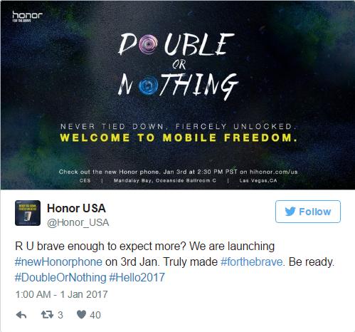 """Honor chuẩn bị thông báo về chiếc smartphone """"epic"""" mới tại CES 2017"""