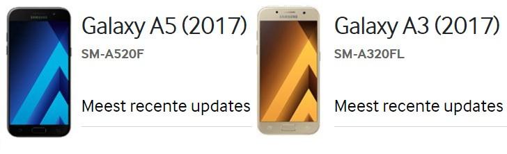 Dòng Galaxy A 2017, A3 và A5 sẽ được trang bị chống nước IP68