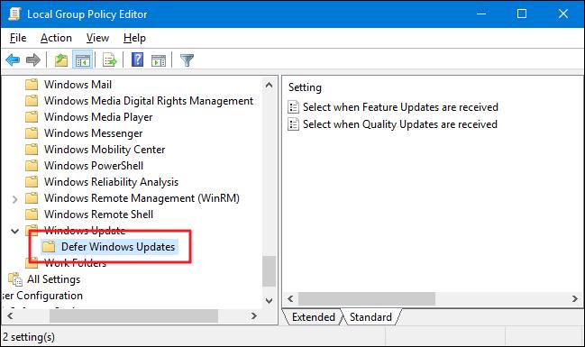 Thay đổi thời gian tự động cập nhật của Windows 10