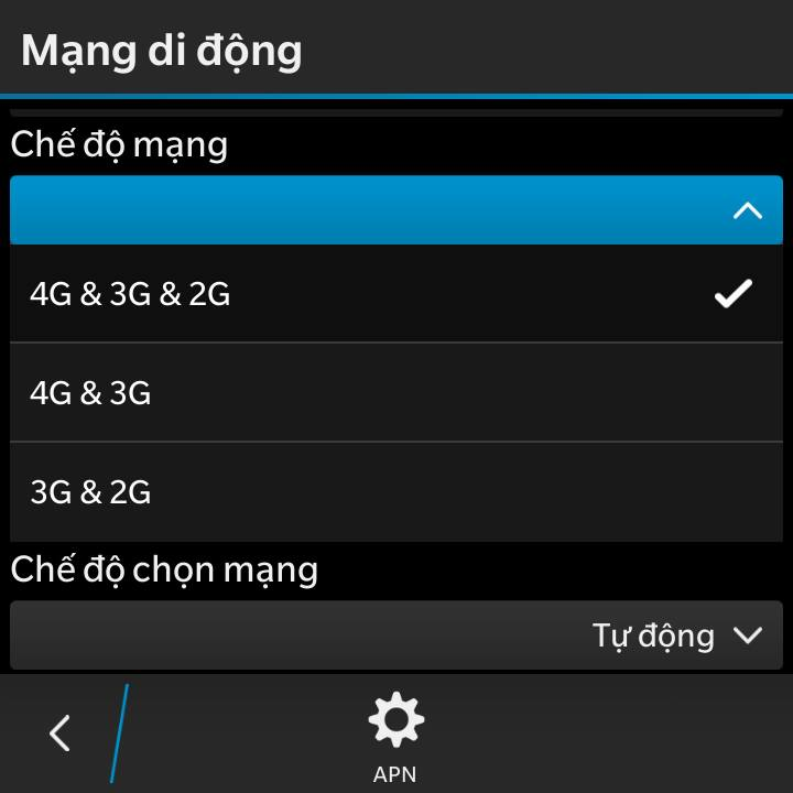 4G Blackberry