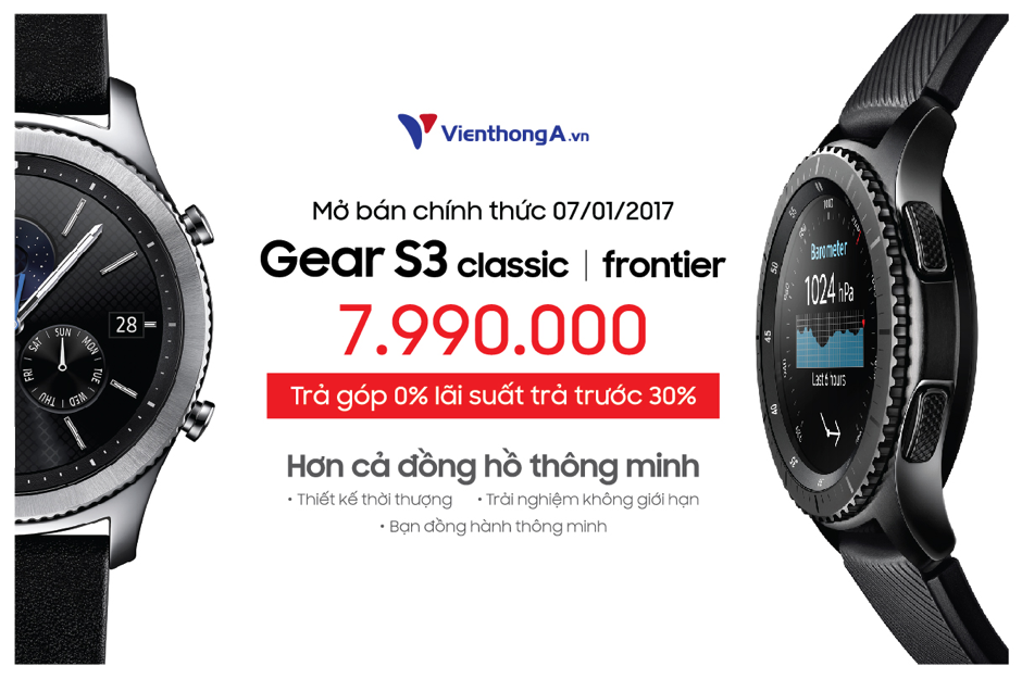 Viễn Thông A cho trả góp 0% lãi suất Samsung Gear S3