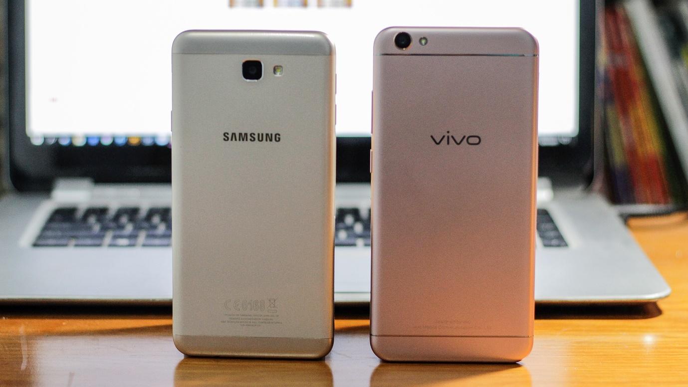 Xem thử hiệu năng của Vivo V5 và Galaxy J7 Prime