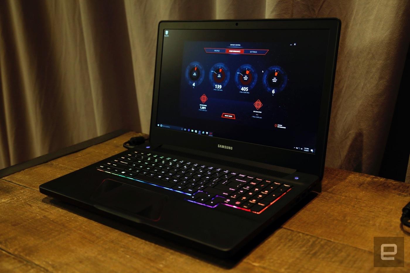 Samsung giới thiệu laptop chơi game Odyssey: Core i7, RAM 32GB, GTX 1050