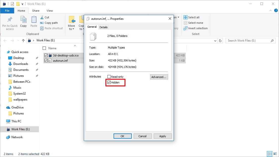 Cách thay đổi biểu tượng hiển thị bộ nhớ ngoài trên Windows 10