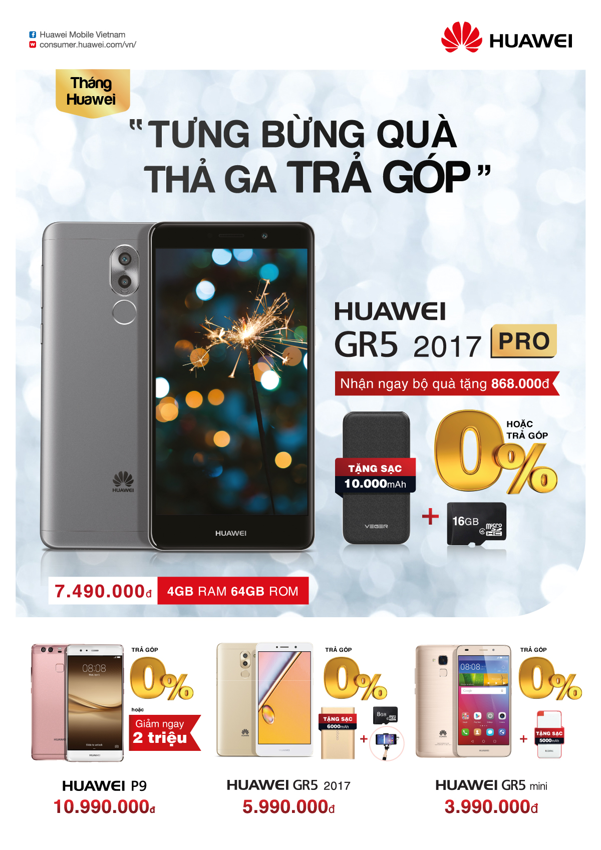 Chương trình khuyến mãi Huawei GR5 2017 Pro tại FPT Shop tháng 4/2017