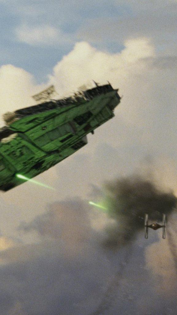 The-Last-Jedi-iPhone-Wallpaper-Millenium-Falcon-576x1024
