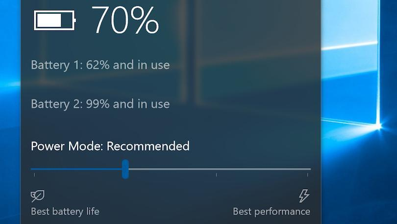 Mẹo tiết kiệm pin trên Windows 10 Creators