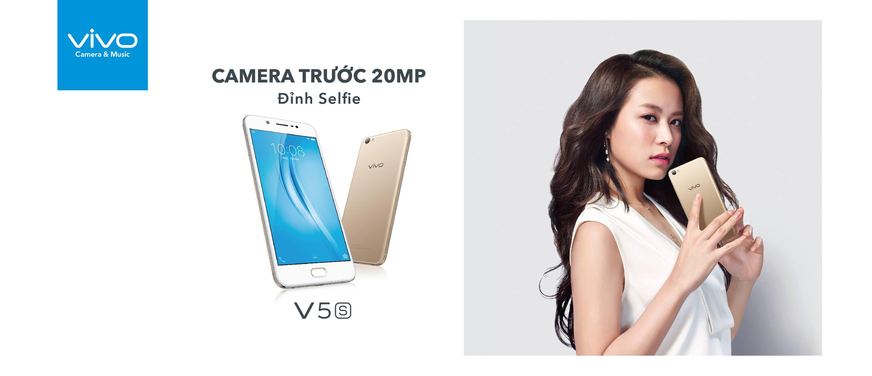 Vivo V5s ra mắt, tiếp tục vào trải nghiệm camera selfie