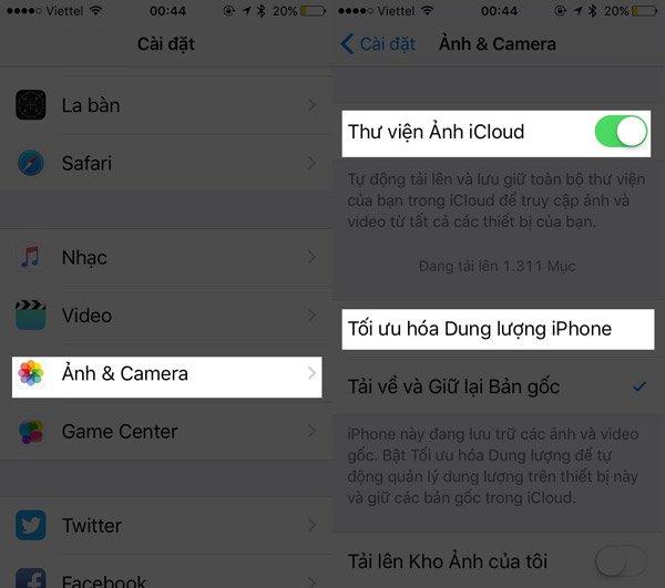 Cách tăng dung lượng iPhone khi bị báo hết bộ nhớ