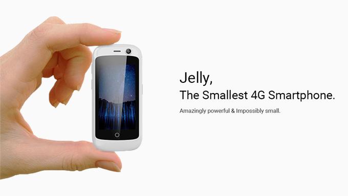 Jelly và Jelly Pro là smartphone nhỏ nhất thế giới có 4G, chạy Android 7.0