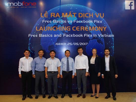 MobiFone hợp tác với mạng xã hội toàn cầu Facebook chính thức ra mắt dịch vụ Free Basics và Facebook Flex.
