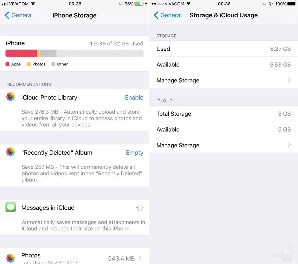 """Có một bảng mới hiển thị chính xác những gì đang """"ngốn"""" dung lượng trên iPhone. Menu Storage được nâng cấp triệt để, cung cấp nhiều thông tin hơn và đầy đủ hơn trước đó."""