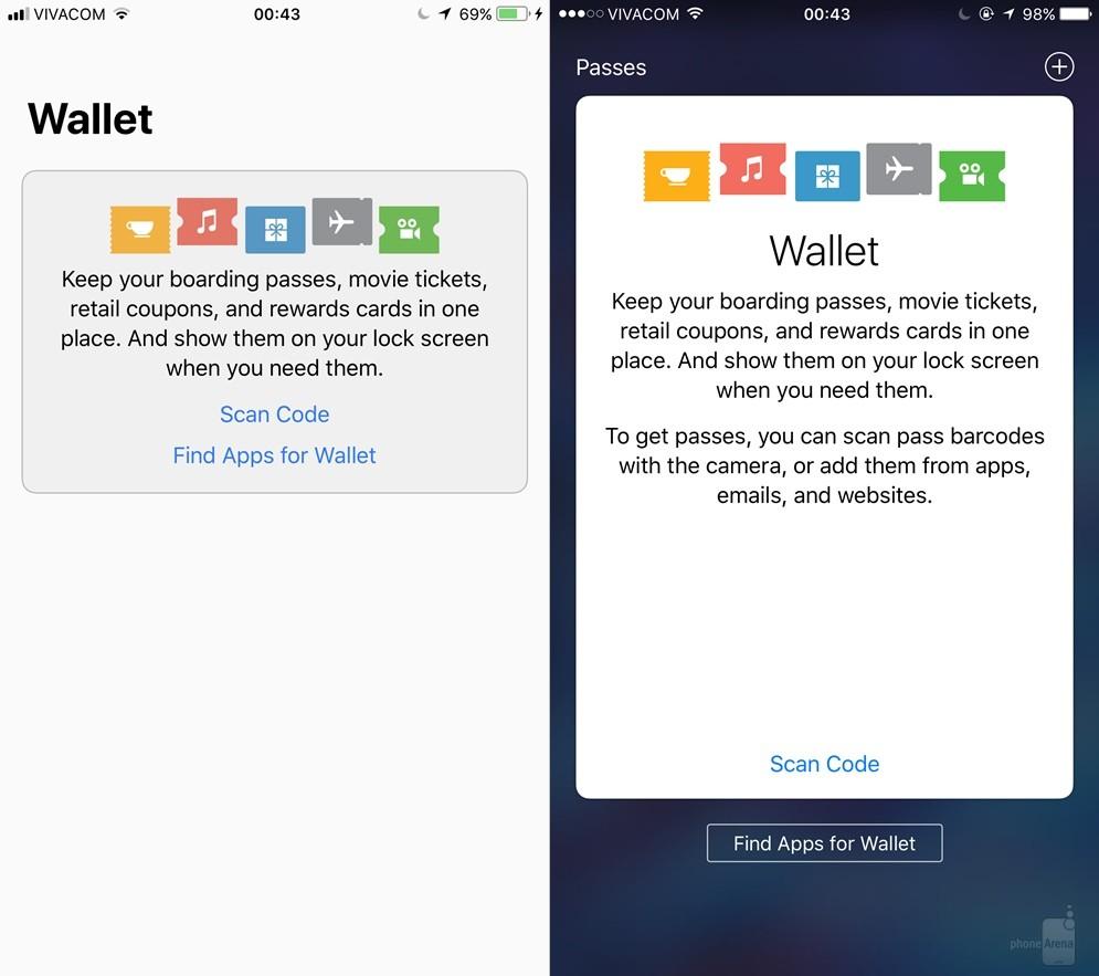 Ứng dụng Wallet cũng được thay đổi về giao diện để phù hợp hơn với toàn bộ iOS 11.