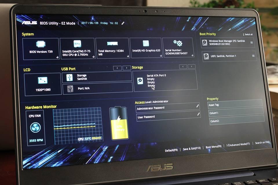 Phím tắt cài lại Windows, phím tắt vào Boot Option, phím tắt vào Bios