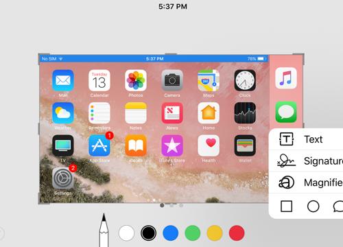 iOS 11 giúp chụp ảnh màn hình trở nên ấn tượng
