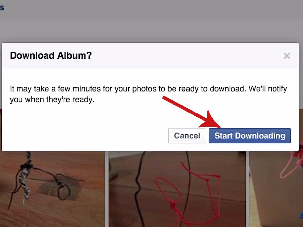 Hướng dẫn cách tải album ảnh từ Facebook