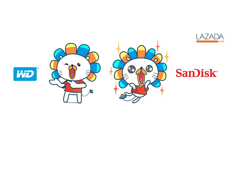 Lazada chào đón ngày hội thương hiệu đỉnh cao – cùng sao săn giá cùng WD và Sandisk