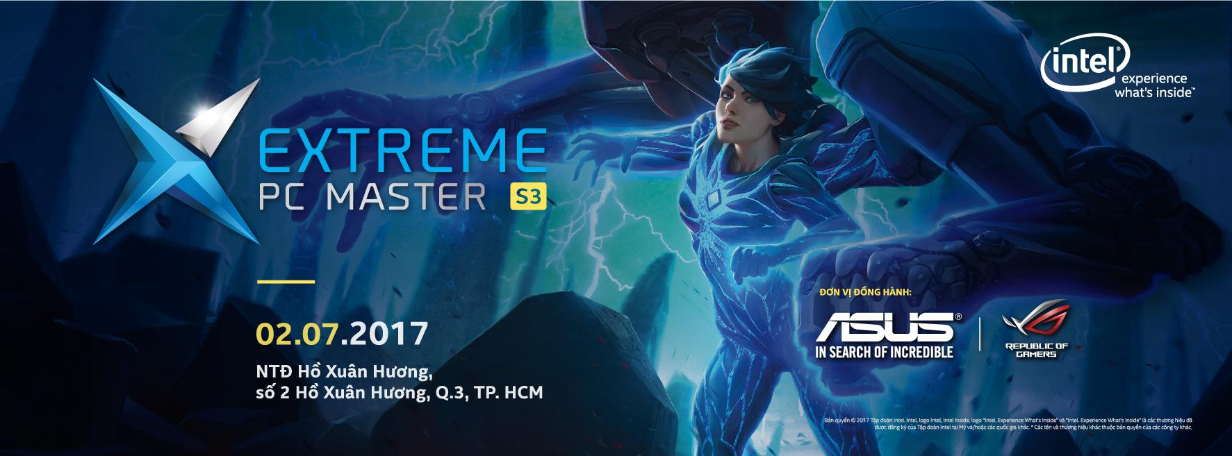 """ASUS là nhà tài trợ độc quyền Bo mạch chủ và Card đồ họa tại """"Extreme PC Master"""" mùa thứ 3"""
