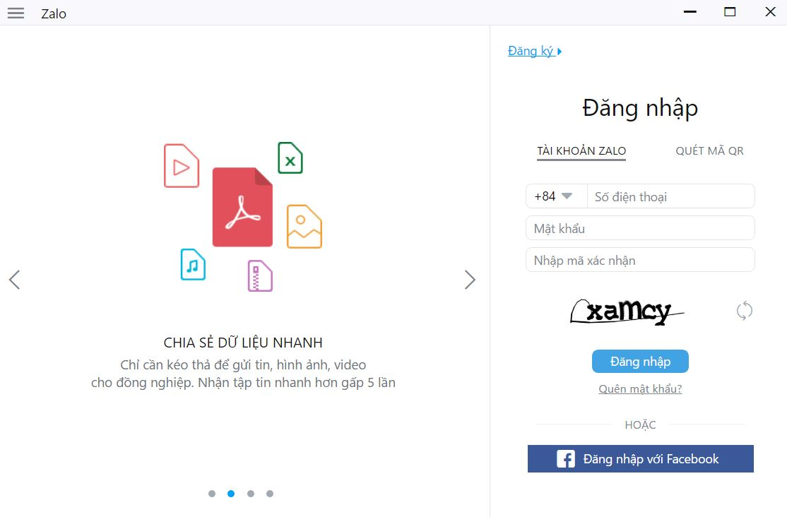 Cách đăng nhập Zalo bằng Facebook trên máy tính