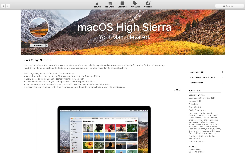 macOS HighSierra chính thức phát hành, lên thôi