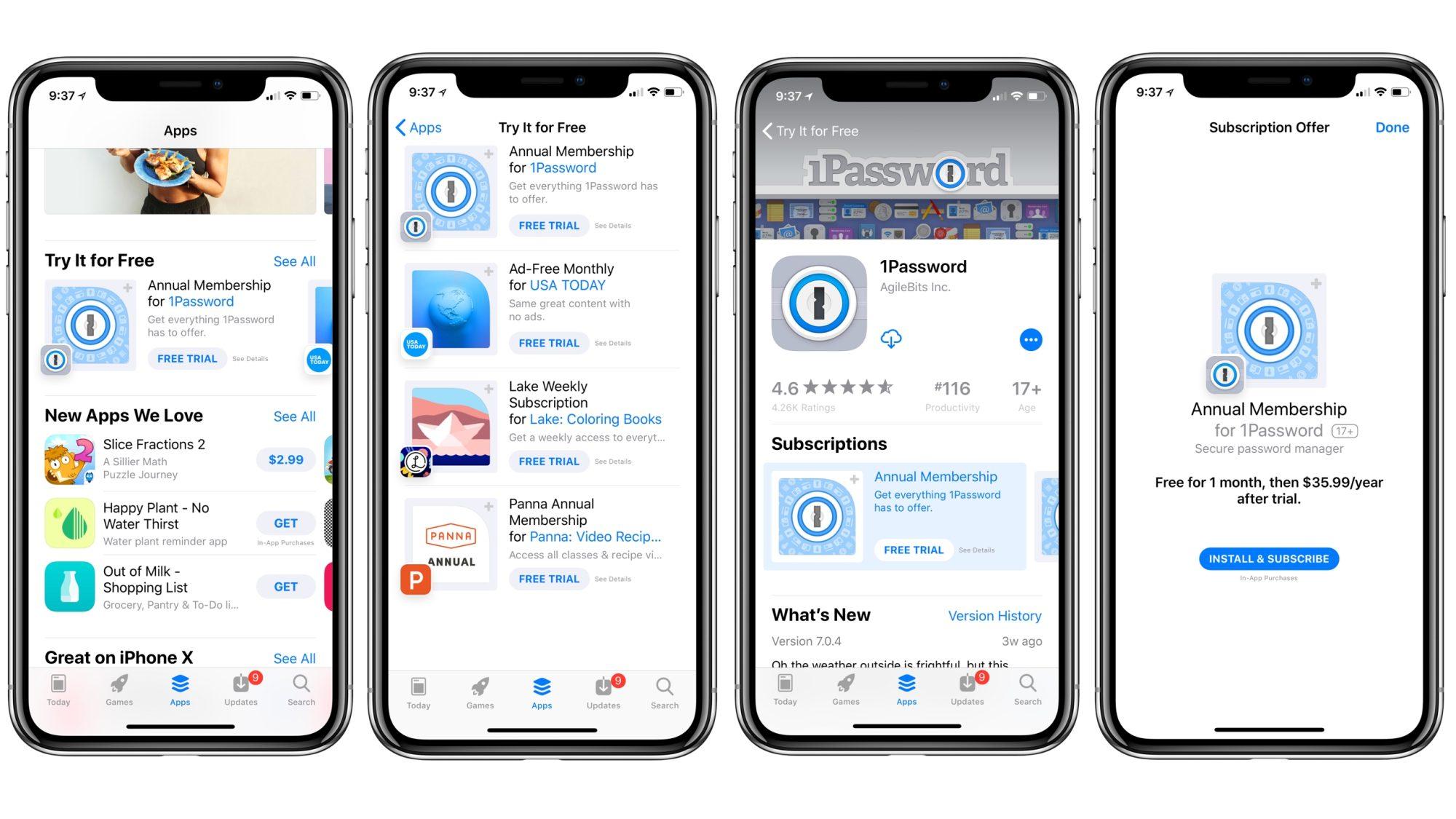 Apple làm nổi bật các ứng dụng subscription với tính năng dùng thử mới