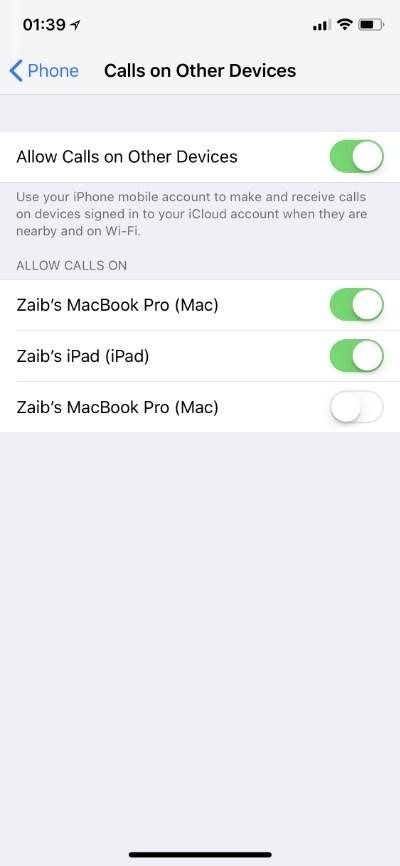 Cách ngưng đổ chuông báo các cuộc gọi từ iPhone trên iPad và Mac