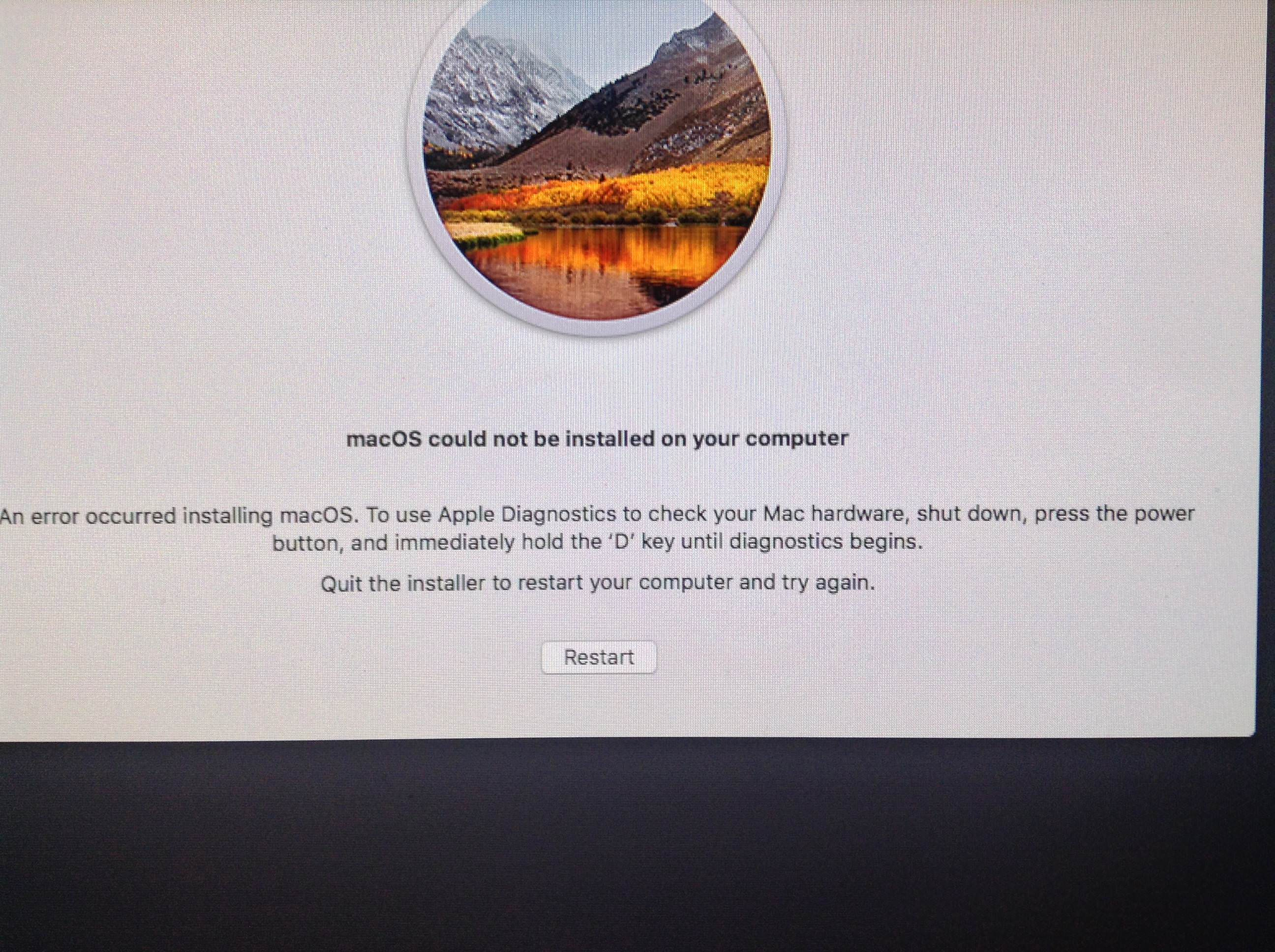 """Sửa lỗi """"macOS could not be installed on your computer"""" khi"""