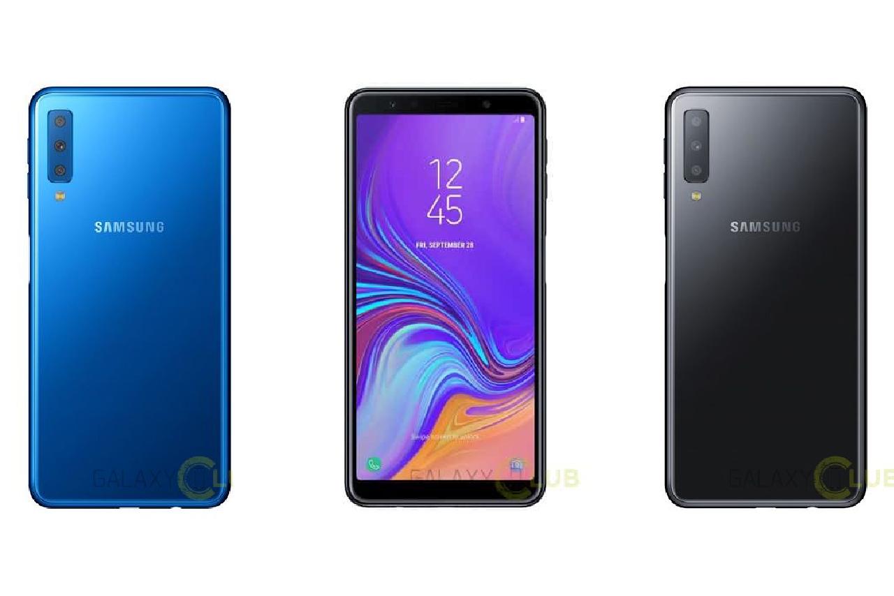 Hình ảnh chính thức Galaxy A7 (2018) với màn hình vô cực, 3 camera