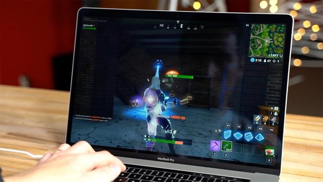 Thử nghiệm Vega 20 của MacBook Pro bằng Fornite trên macOS và Windows 10