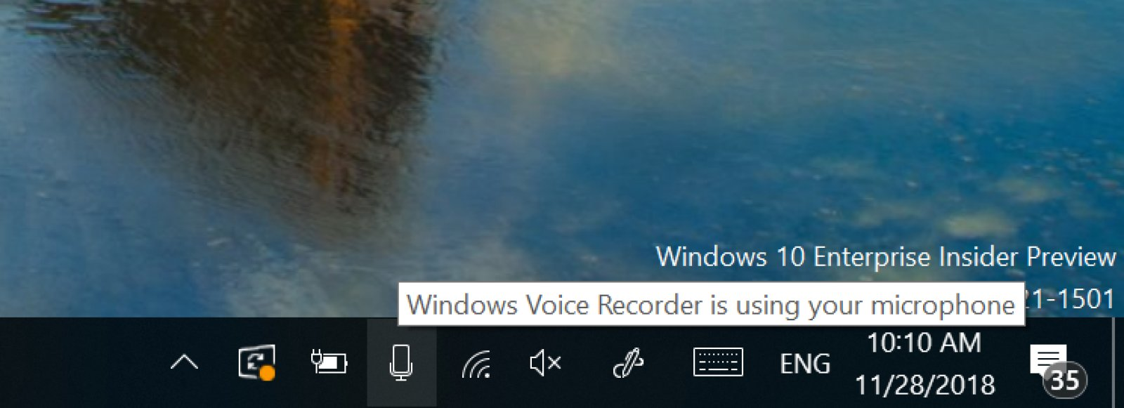 Bản cập nhật Windows 10 mới sẽ cho bạn biết ứng dụng nào đang sử dụng micro