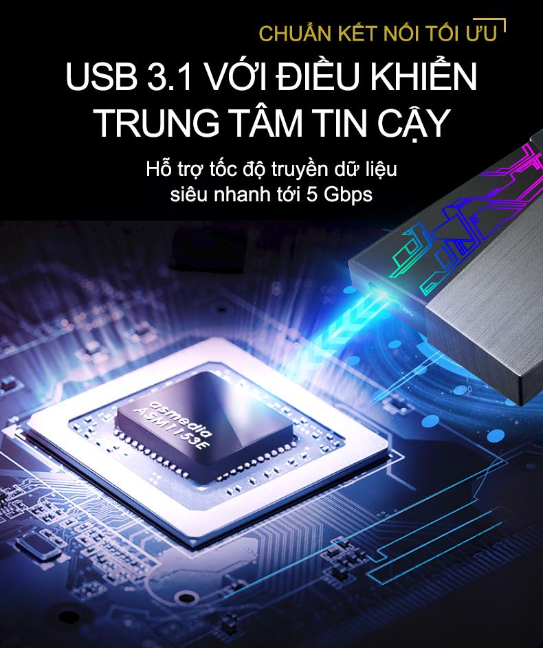 ASUS công bố FX HDD đầu tiên tích hợp đèn màu Aura Sync RGB
