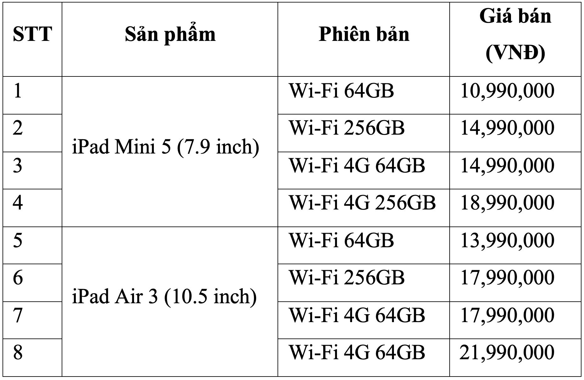 iPad Mini 5 FPT Shop