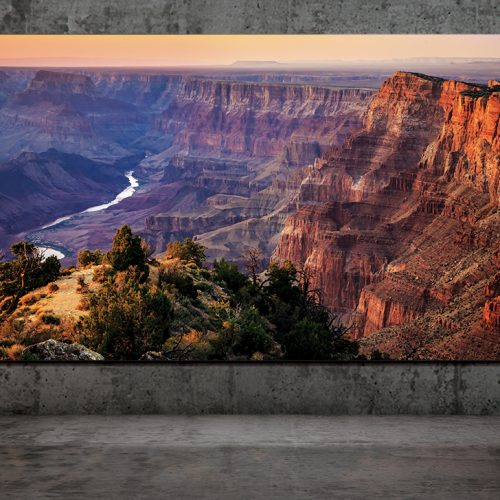 tv samsung wall luxury